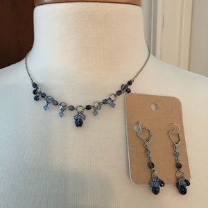 Ladies necklace and matching earrings